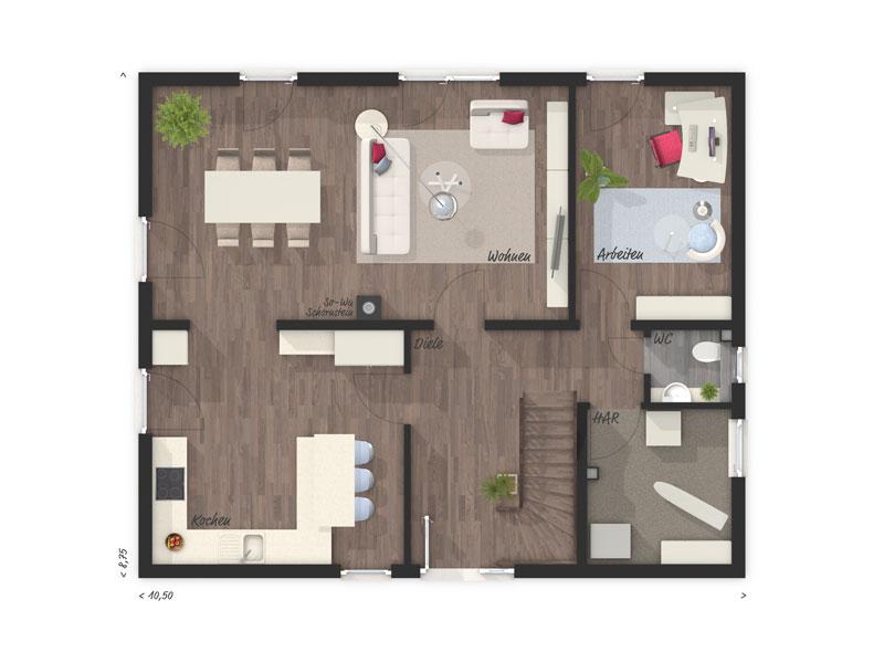 stadthaus bis von town country stadthaus flair 152 re. Black Bedroom Furniture Sets. Home Design Ideas