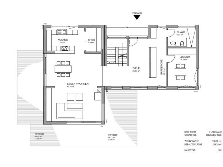fertighaus von luxhaus flachdach 283. Black Bedroom Furniture Sets. Home Design Ideas