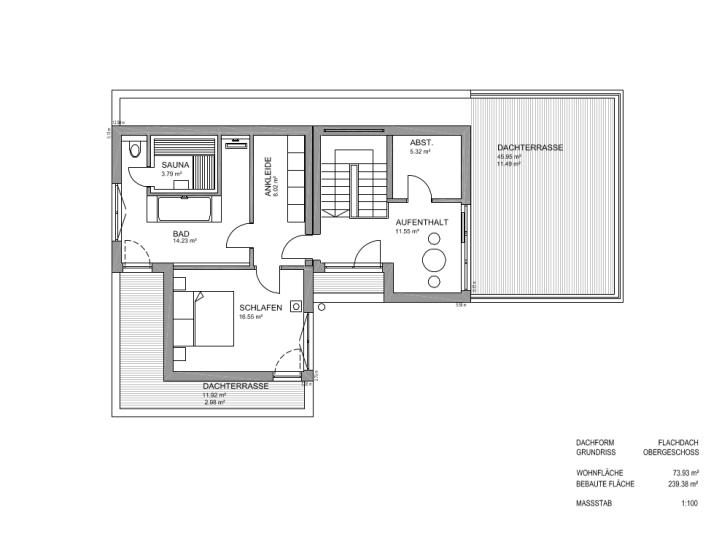 Fertighaus von luxhaus flachdach 283 for Flachdachhaus grundriss