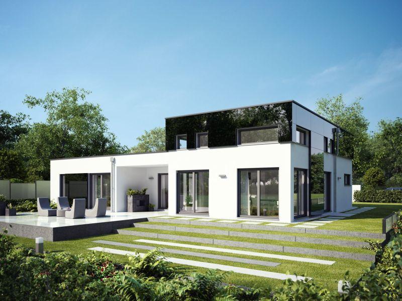 Fertigteilhaus bungalow flachdach  Rensch Haus Flatline R - Wohnen auf einer Ebende